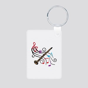 CLARINET WITH MUSIC Keychains