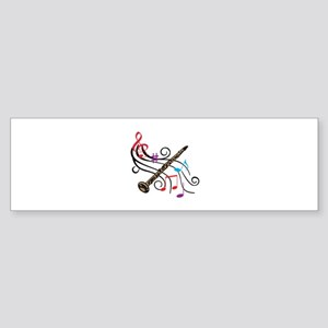 CLARINET WITH MUSIC Bumper Sticker