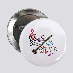 """CLARINET WITH MUSIC 2.25"""" Button (10 pack)"""