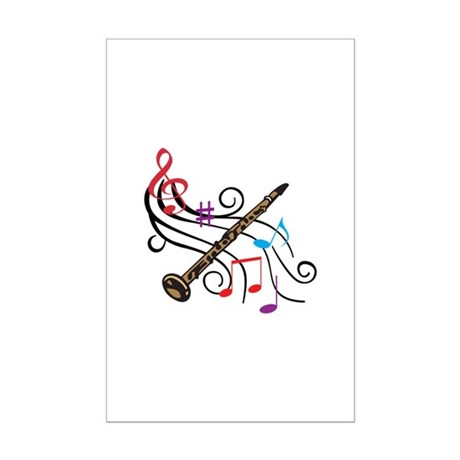 CLARINET WITH MUSIC Posters by greatnotions7