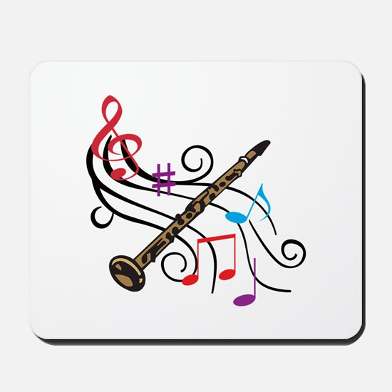 CLARINET WITH MUSIC Mousepad