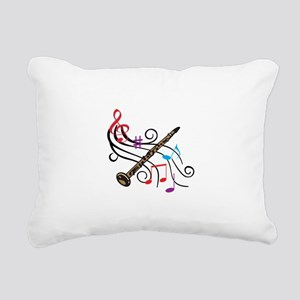 CLARINET WITH MUSIC Rectangular Canvas Pillow