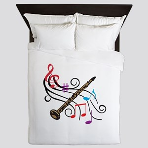 CLARINET WITH MUSIC Queen Duvet