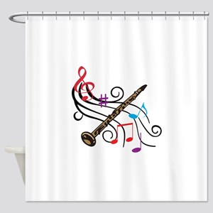 CLARINET WITH MUSIC Shower Curtain