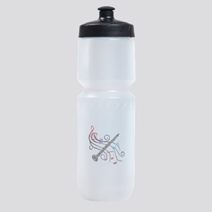 CLARINET WITH MUSIC Sports Bottle