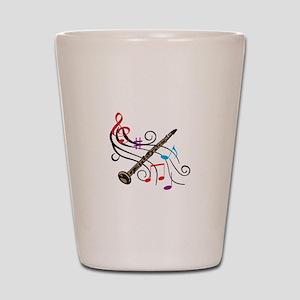 CLARINET WITH MUSIC Shot Glass