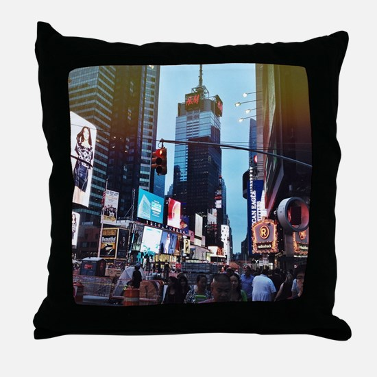 Cute Times square Throw Pillow