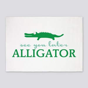 See You Later Alligator 5'x7'Area Rug
