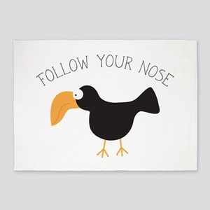 Follow Your Nose 5'x7'Area Rug