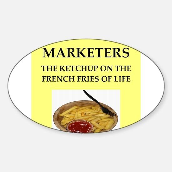 marketing Sticker (Oval)