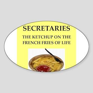 secretary Sticker (Oval)