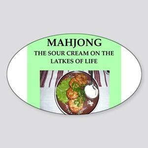 mahjong Sticker (Oval)
