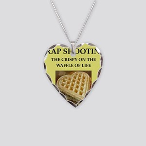 trap shooting Necklace Heart Charm