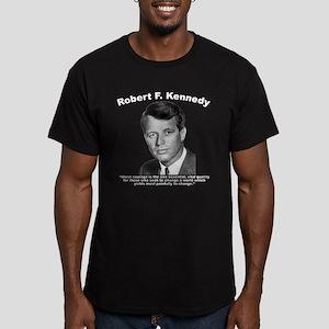 RFK: Courage Men's Fitted T-Shirt (dark)