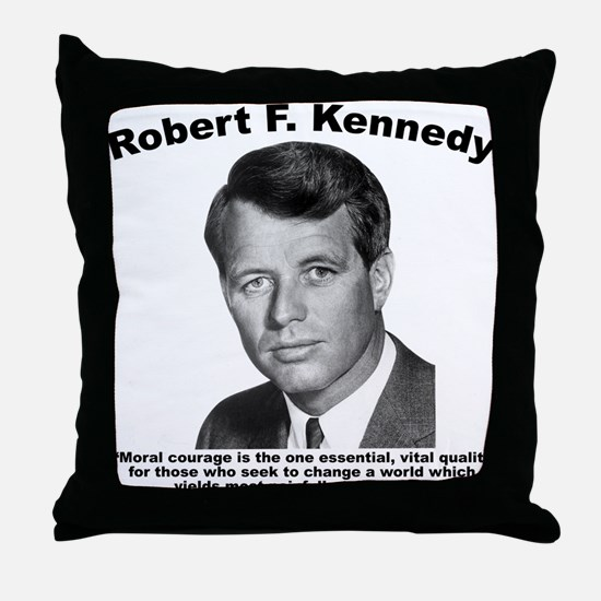 RFK: Courage Throw Pillow
