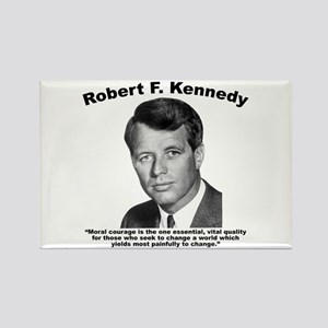 RFK: Courage Rectangle Magnet