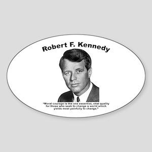 RFK: Courage Sticker (Oval)