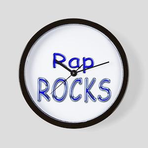 Rap Rocks Wall Clock