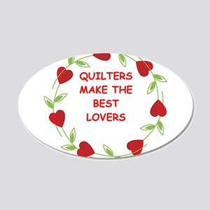 QUILTERS 20x12 Oval Wall Decal