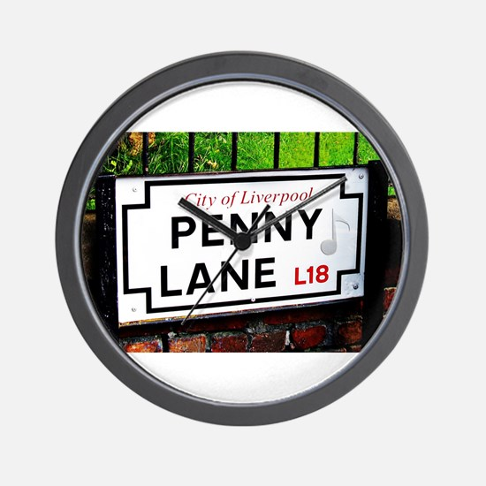 Penny Lane liverpool England Sign with Wall Clock