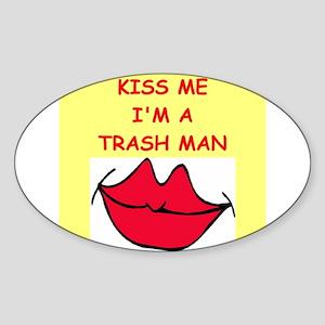 TRASH Sticker (Oval 10 pk)