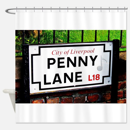 Penny Lane liverpool England Sign w Shower Curtain