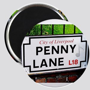 Penny Lane liverpool England Sign with mus Magnets