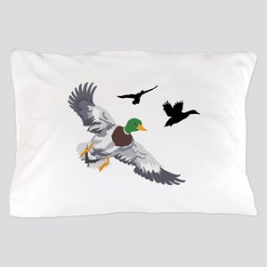 SMALL MALLARDS IN FLIGHT Pillow Case