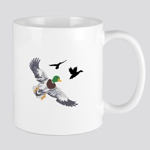 SMALL MALLARDS IN FLIGHT Mugs