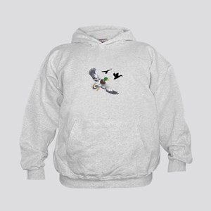 SMALL MALLARDS IN FLIGHT Hoodie