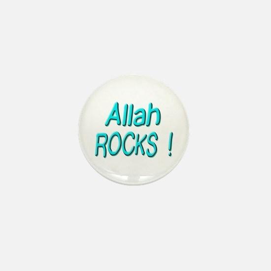 Allah Rocks ! Mini Button