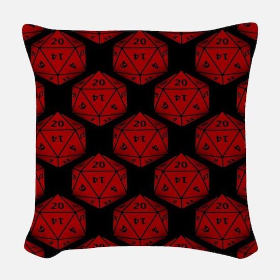 Geeky Dice Woven Throw Pillow