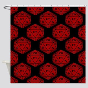 Geeky Dice Shower Curtain