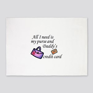 Daddy's Credit Card 5'x7'Area Rug