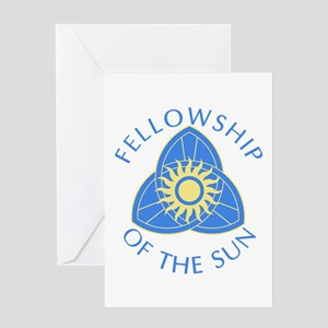 Fellowship Of The Sun True Blood Greeting Cards