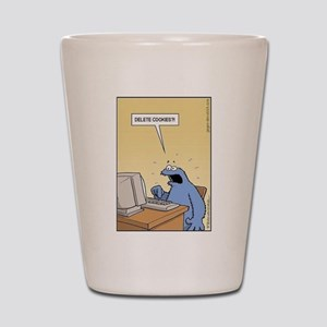 Cookie Monster - delete Cookies! Shot Glass