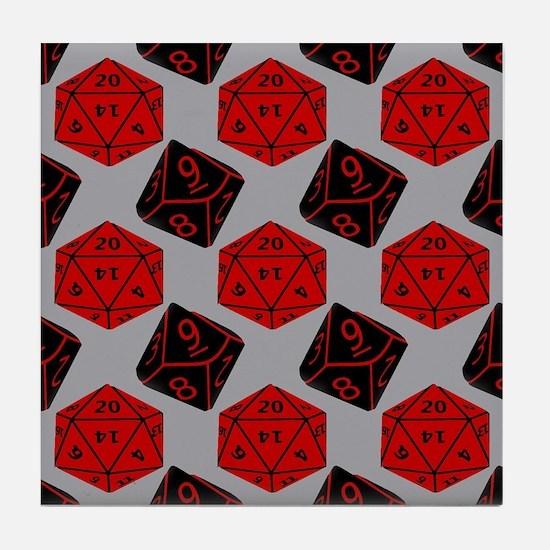 Geeky Dice Tile Coaster