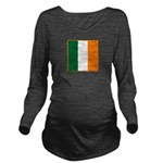Irish Stripes Long Sleeve Maternity T-Shirt