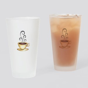HOT COFFEE Drinking Glass