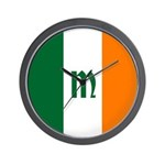 Irish Stripes Monogram Wall Clock