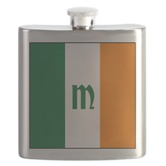 Irish Stripes Monogram Flask