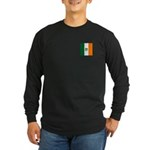 Irish Stripes Monogram Long Sleeve Dark T-Shirt