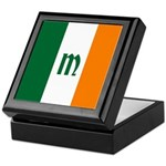 Irish Stripes Monogram Keepsake Box