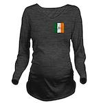 Irish Stripes Monogr Long Sleeve Maternity T-Shirt