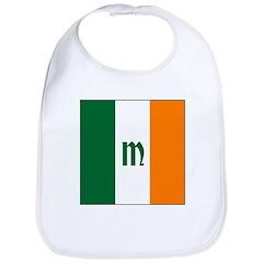Irish Stripes Monogram Bib