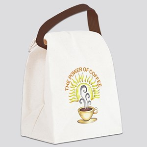 THE POWER OF COFFEE Canvas Lunch Bag