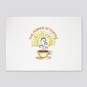 THE POWER OF COFFEE 5'x7'Area Rug