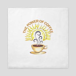 THE POWER OF COFFEE Queen Duvet