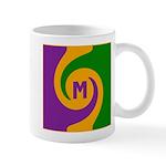 Mardi Gras Swirls Monogram Mug
