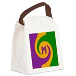 Mardi Gras Swirls Monogram Canvas Lunch Bag